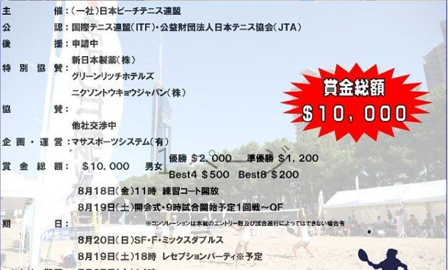 福岡国際ビーチテニス大会